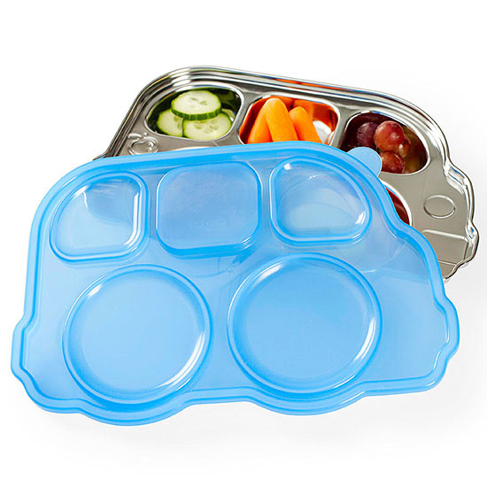 Din Din Smart Stainless Divided Platter With Lid