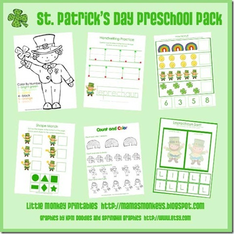 St Patricks Day Preschool Pack