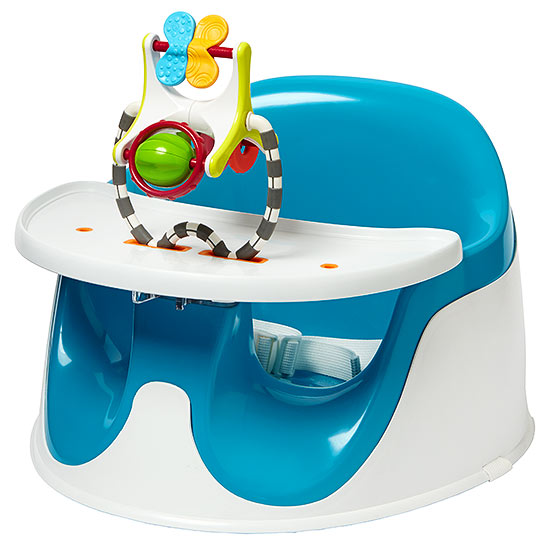 Blue activity tray seat