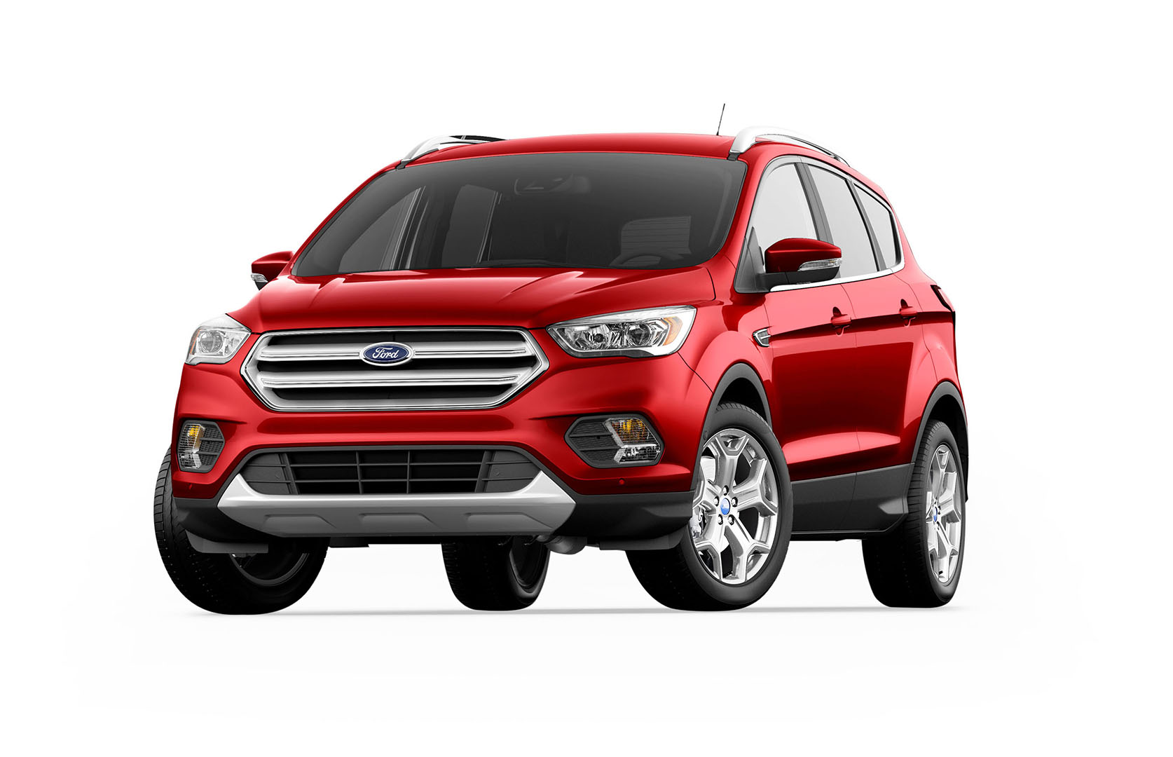 red compact ford escape