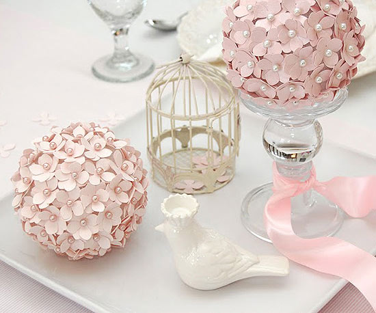 Pretty in Pink Pomander Centerpieces
