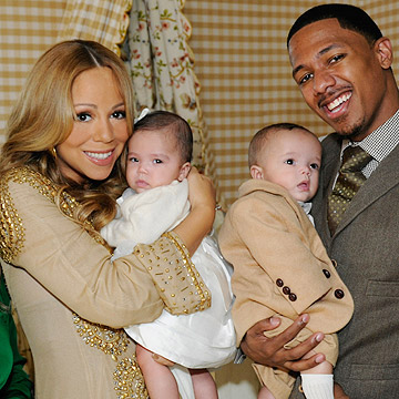 Mariah Carey and Nick Cannon and twins Moroccan and Monroe