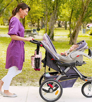 mother on walk with baby