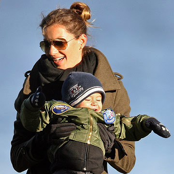 Gisele Bundchen and her son