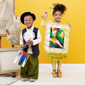 Artist painter and painting Halloween costume
