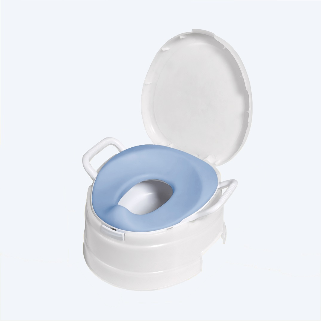 PRIMO 4-In-1 Soft Seat Toilet Trainer Blue Seat