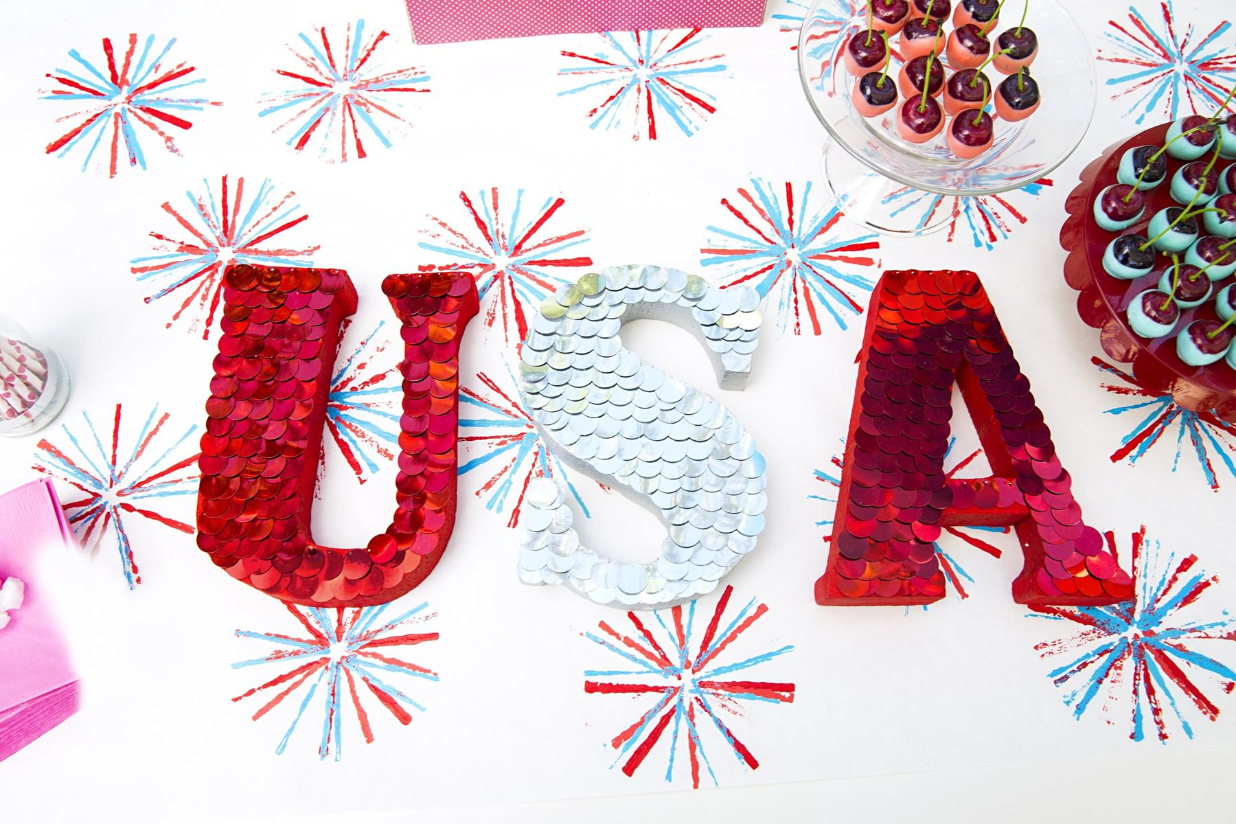 Sparkly Letters USA