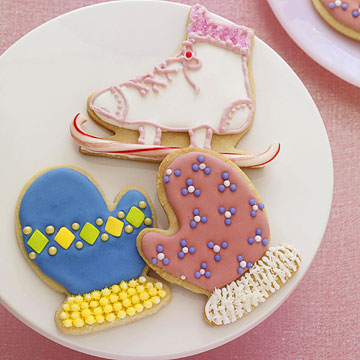 Ice-Skate and Mitten Cookies