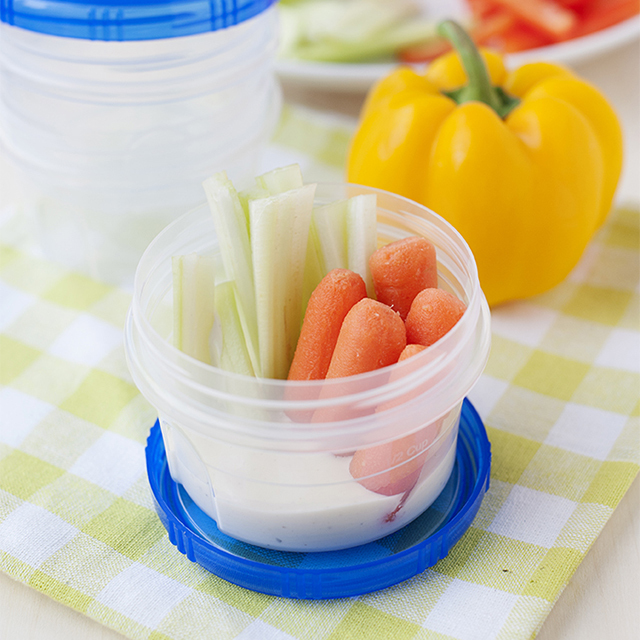 Veggie cups with dip