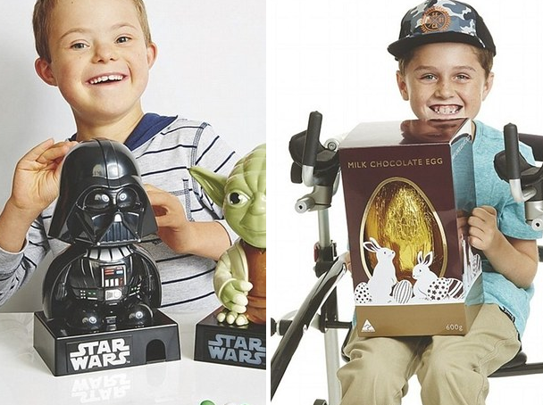 Kids with disabilities modeling for Kmart