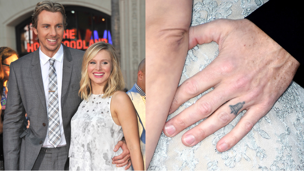 dax shepard ring finger bell tattoo
