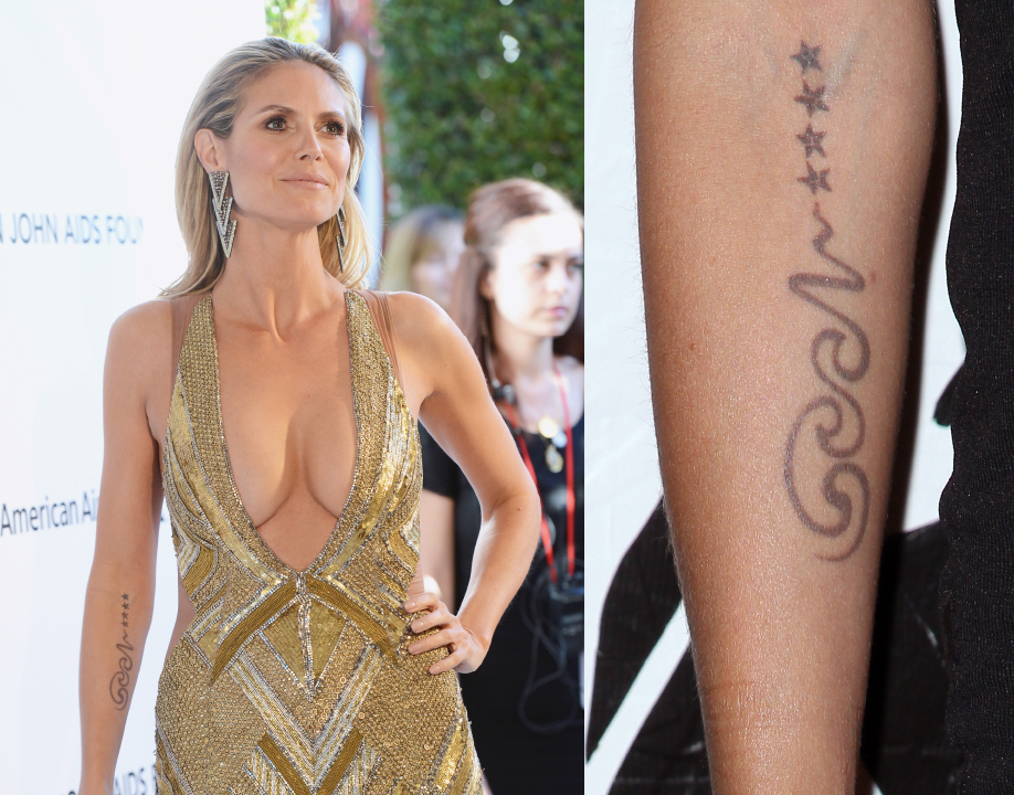 Heidi Klum arm tattoo