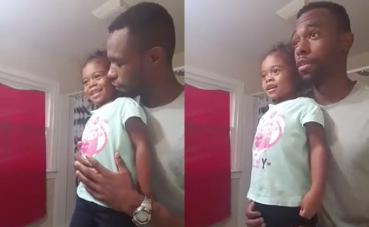 dad and daughter mirror affirmations