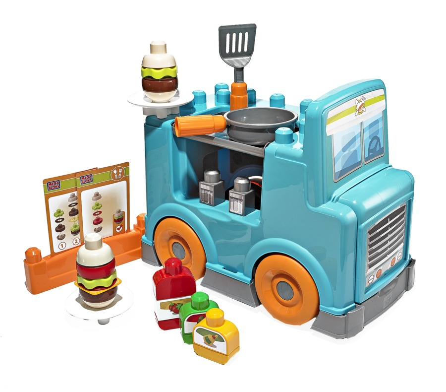 Best Toys Mega Bloks First Builders Food Truck Setchen Building Set