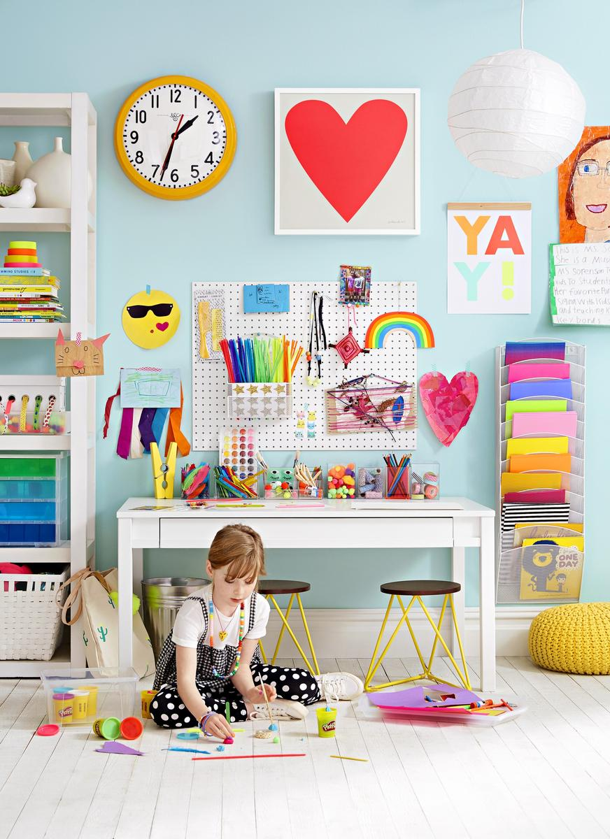 Decor Ideas Craft Room Girl Playing with Play Doh