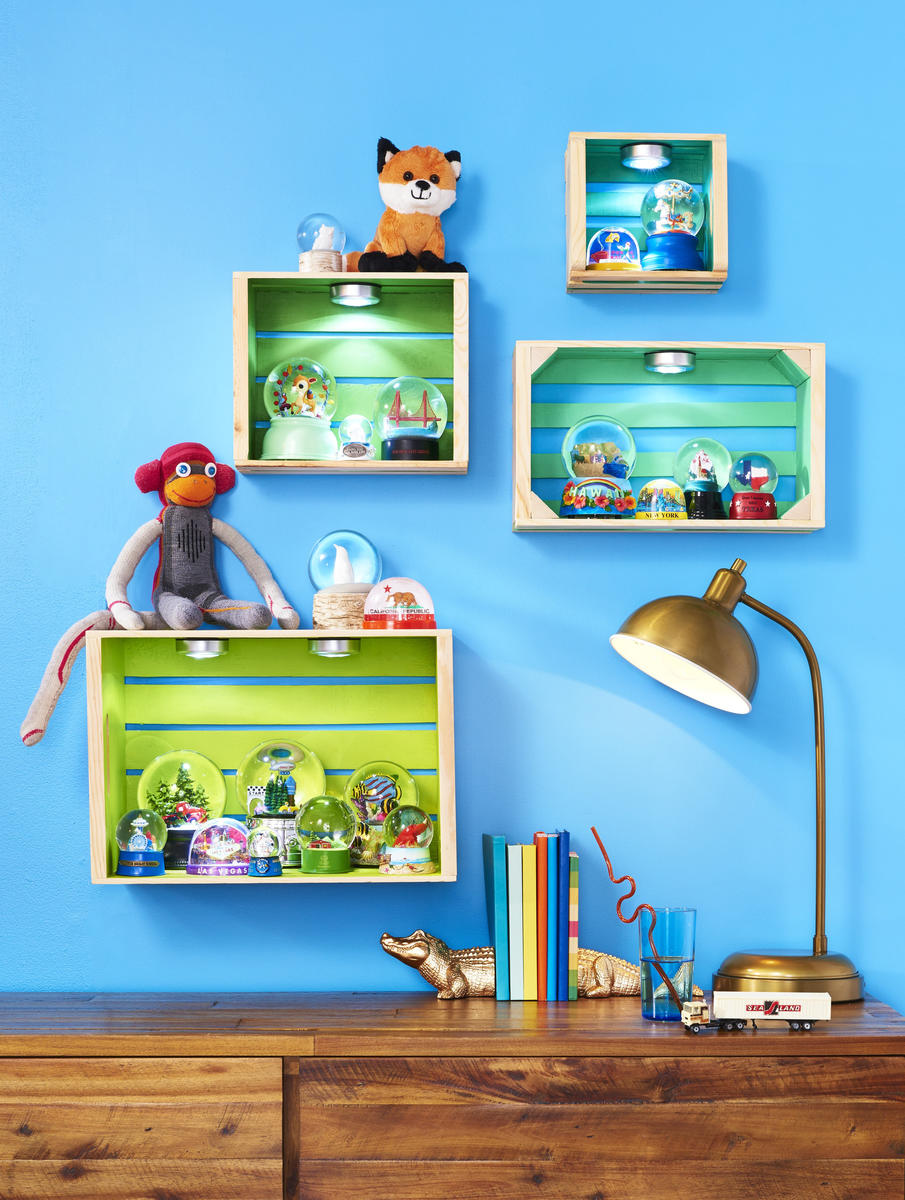 Kids Collections Crate Shelves Wall Display
