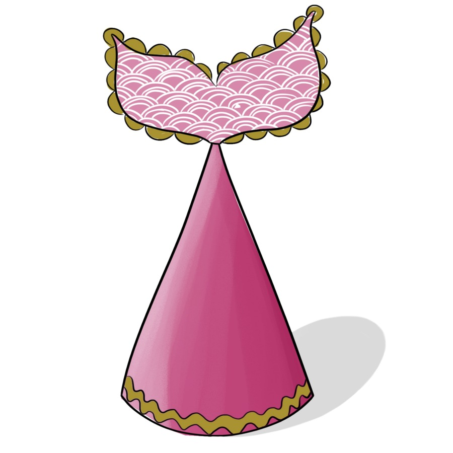 Birthday Craft Attach A Tail Pink Mermaid Tail Cone Hat