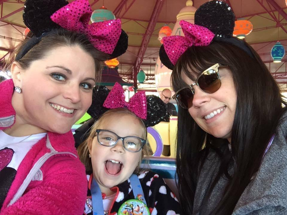 maddie and her mom and step-mom
