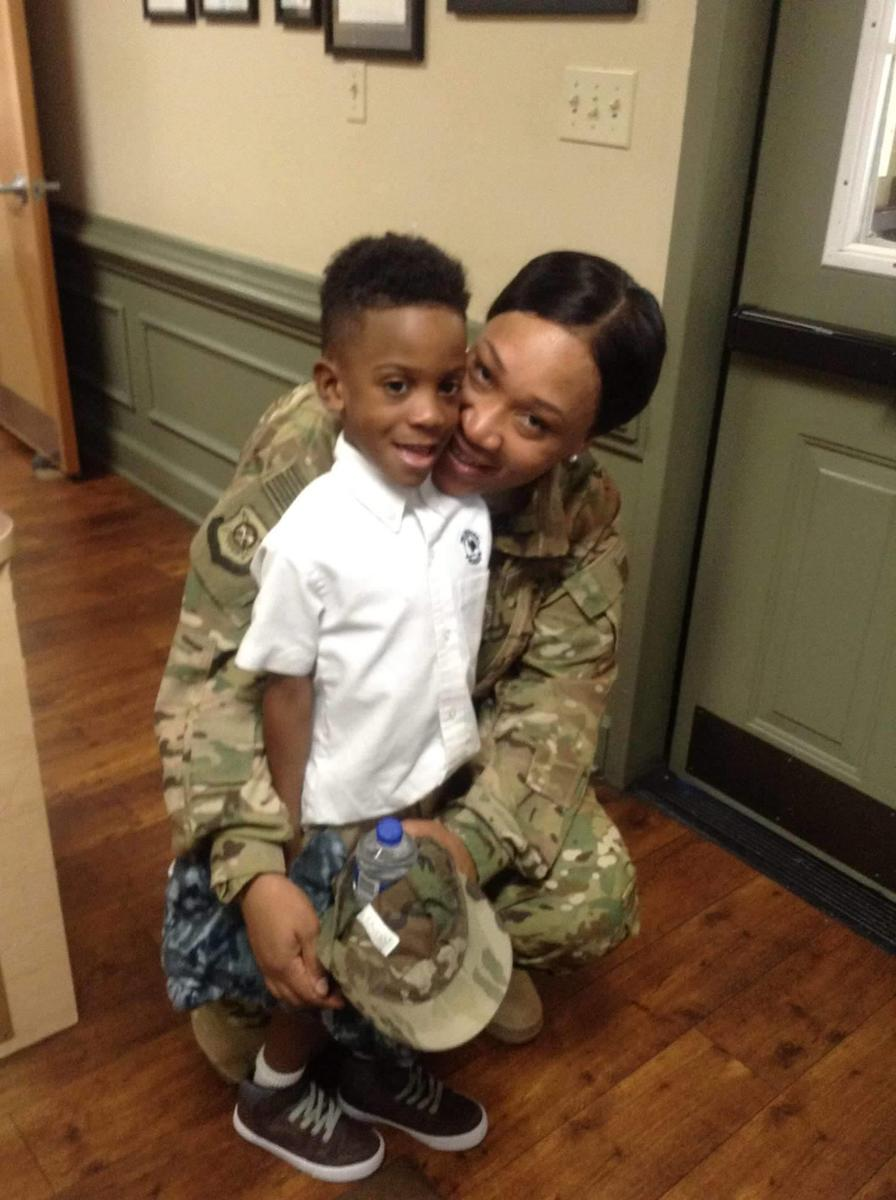 military mom surprises son