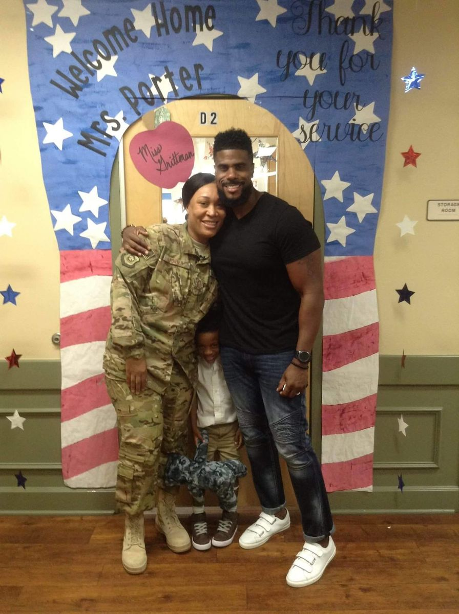 military mom's emotional homecoming with son