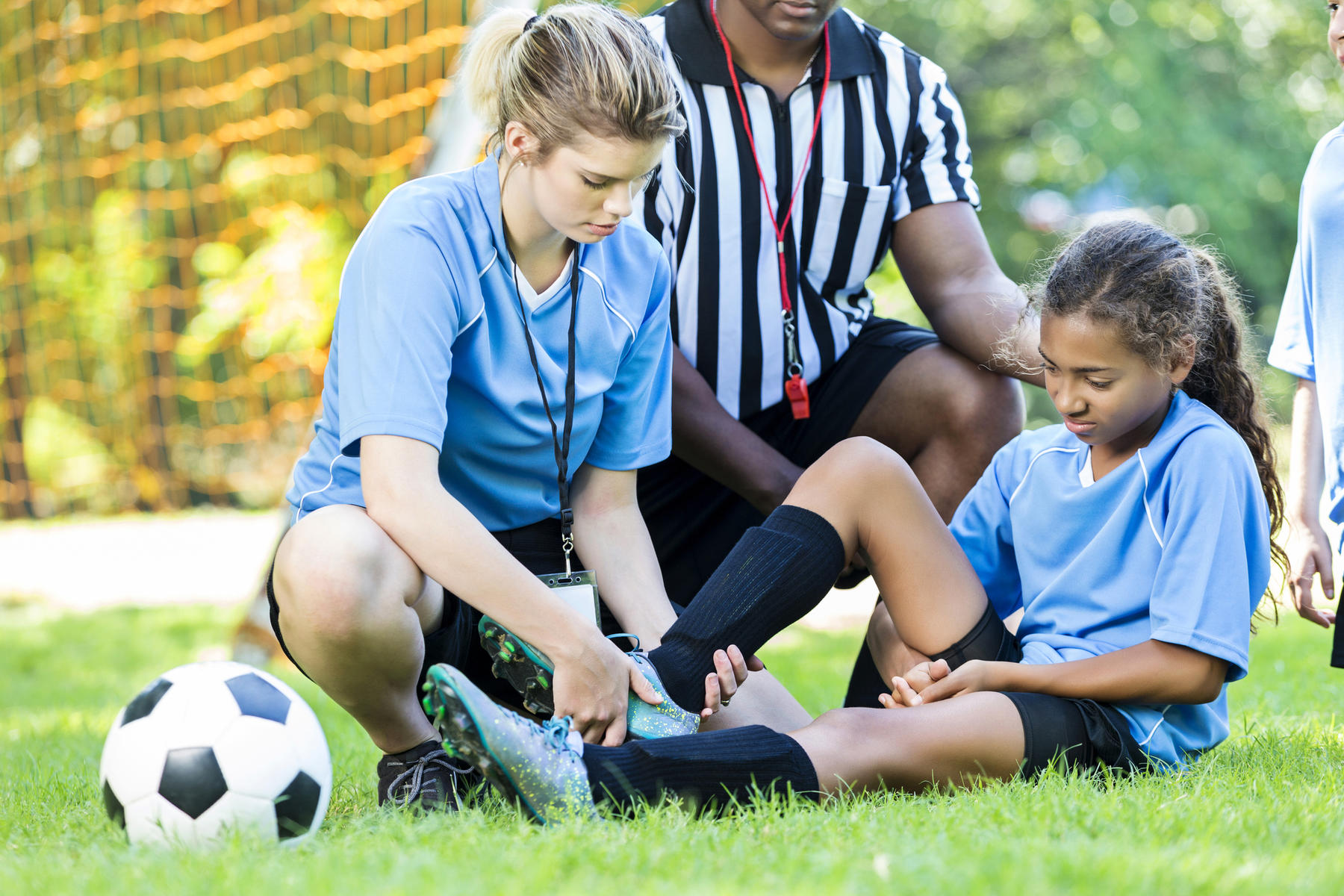 Child with sports injury