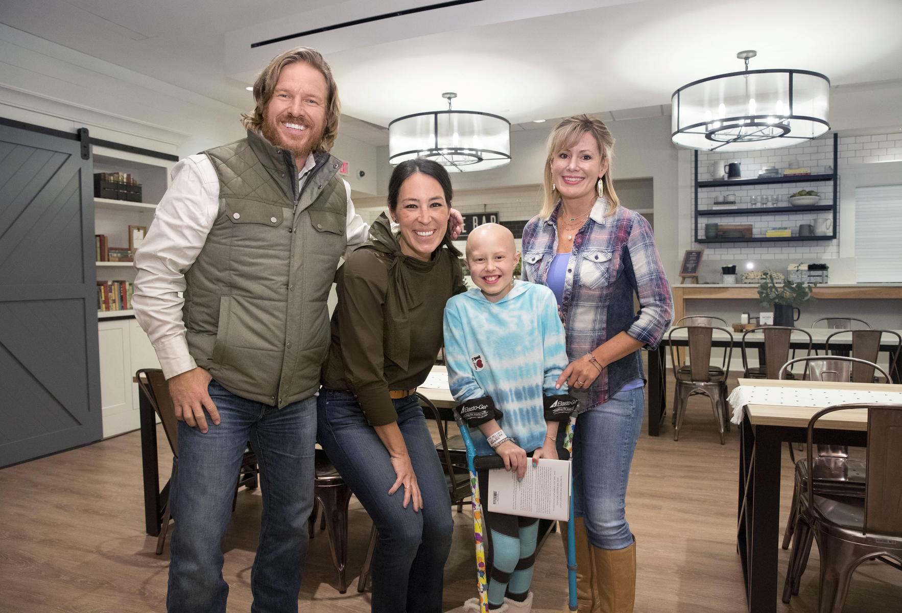 Chip and Joanna Gaines With Kids At Target House