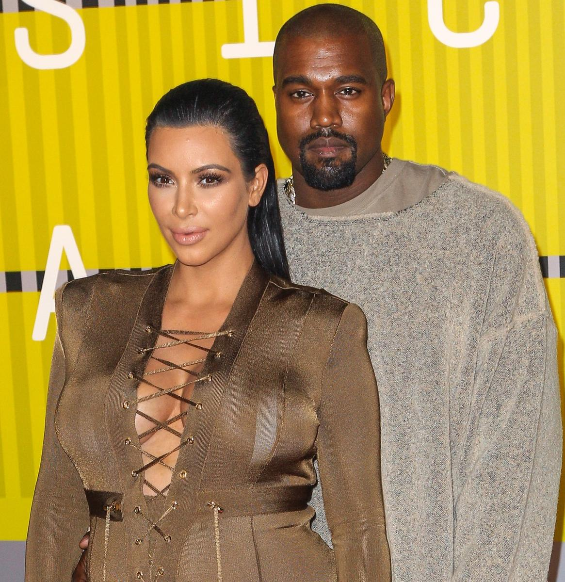 Celeb Parents Kim Kardashian West and Kanye West