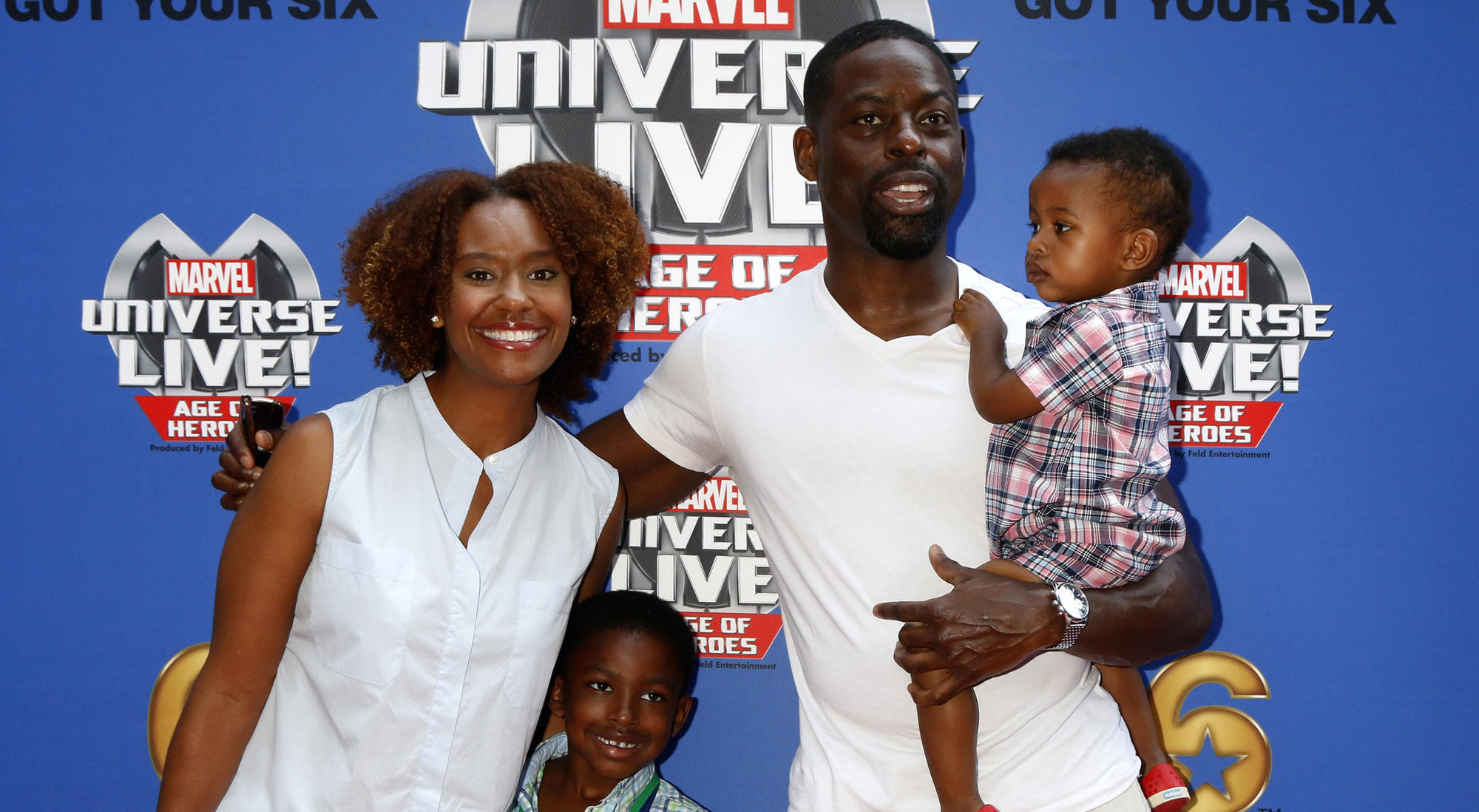 Sterling K Brown and his wife Ryan with their sons