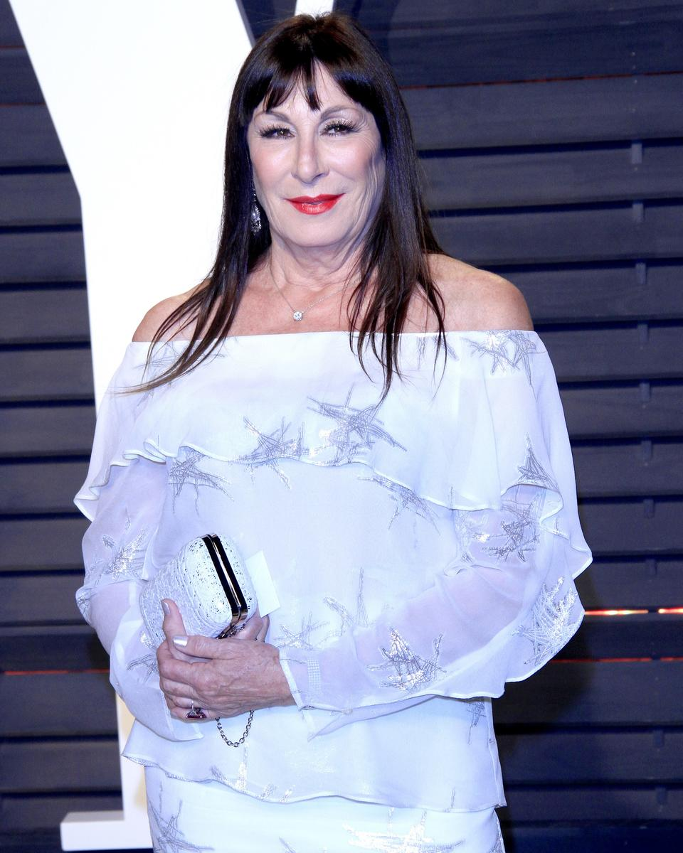 Anjelica Huston White Dress