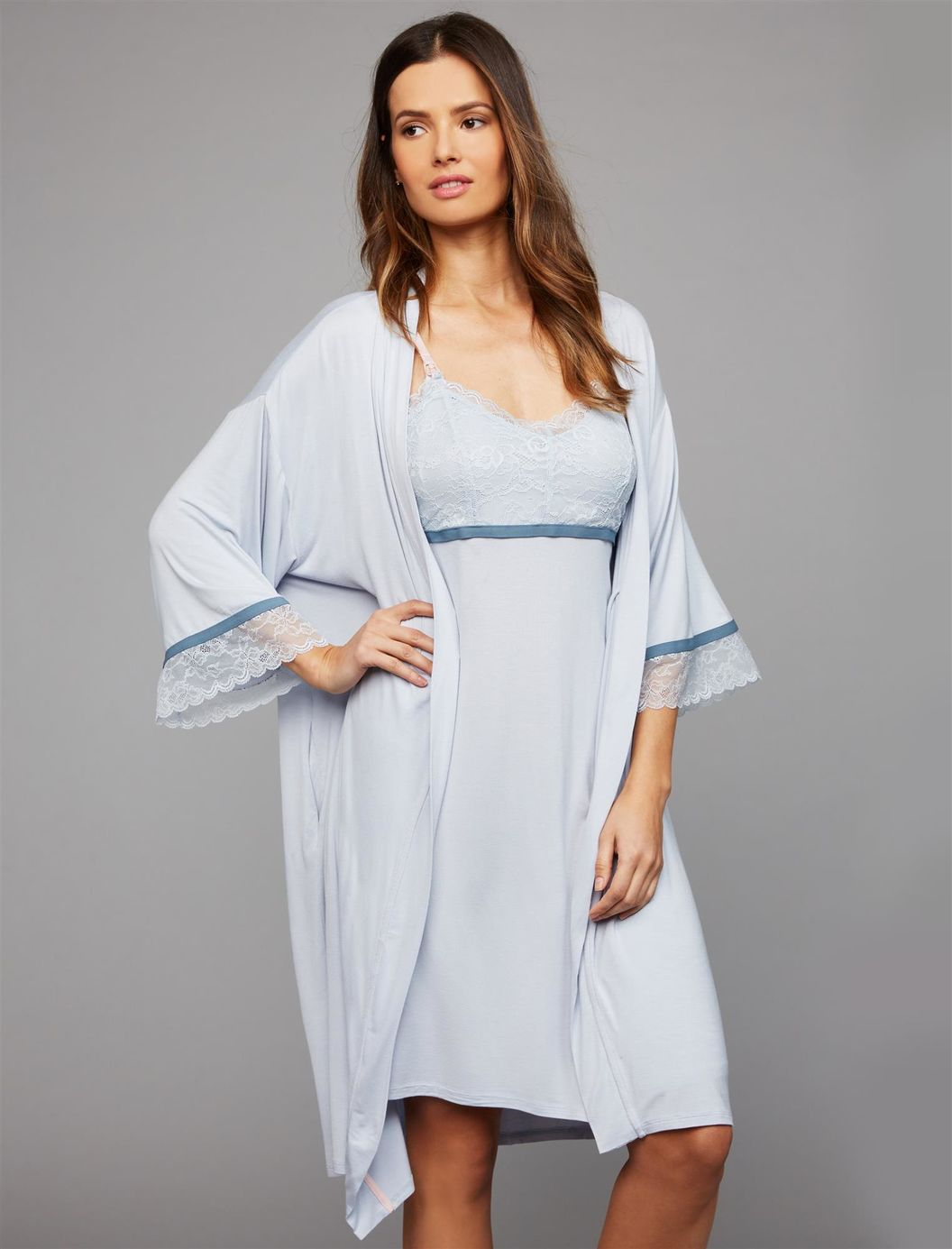 Destination Maternity Nursing Nightgown And Robe Set
