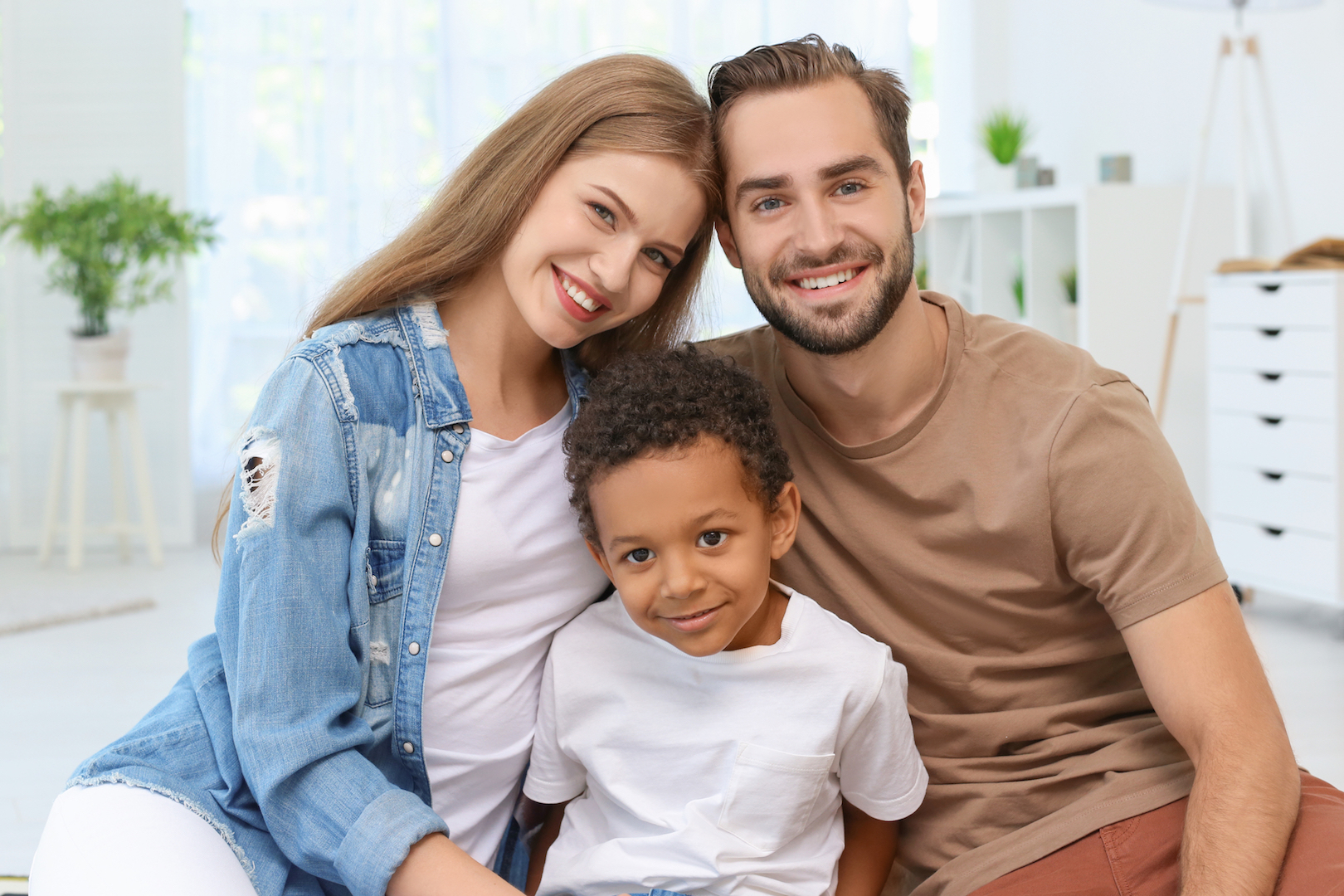 Adoption Family with Adopted Son