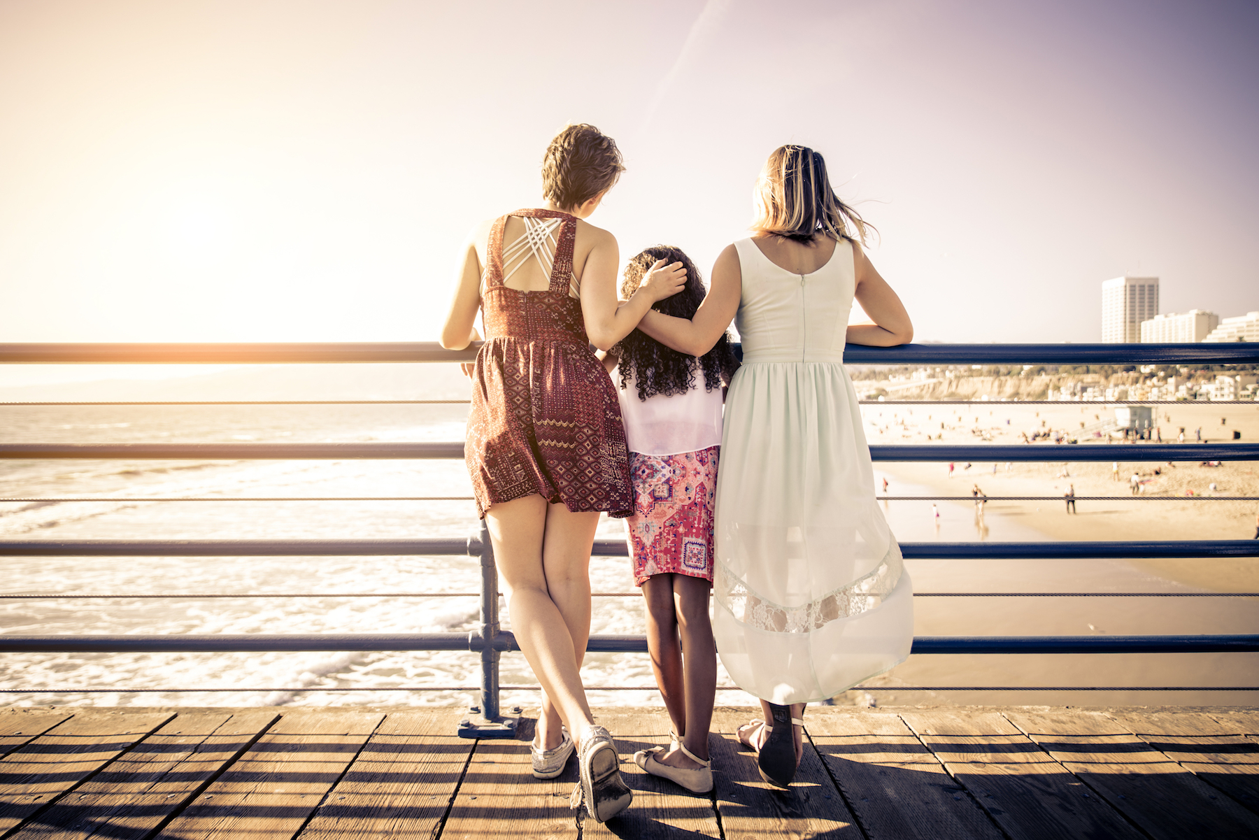 lesbian couple with daughter