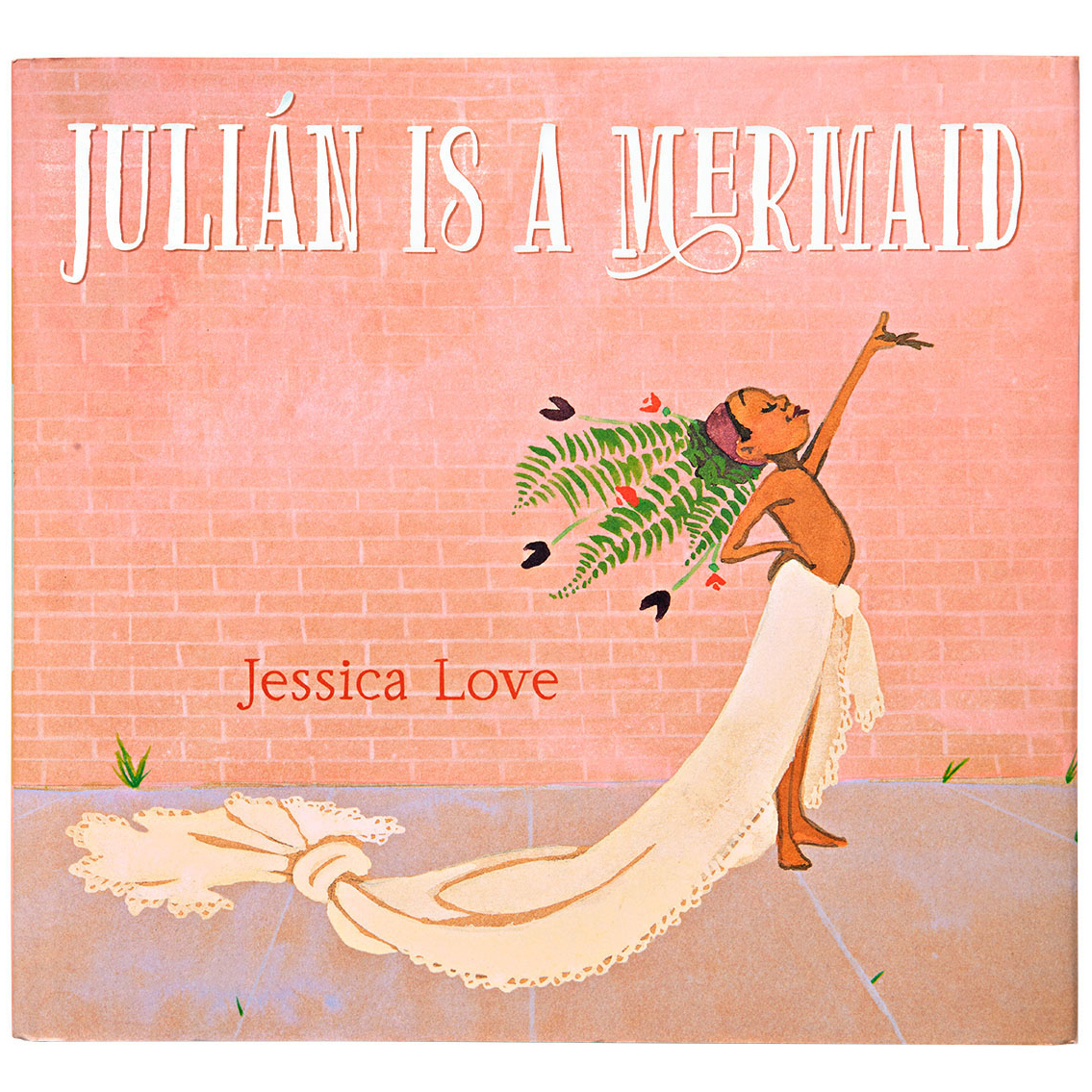 children's illustrated book cover entitled julian is a mermaid