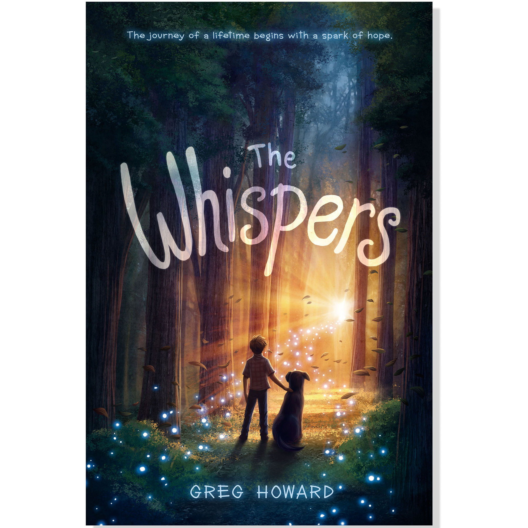 children's illustrated book cover entitled the whispers