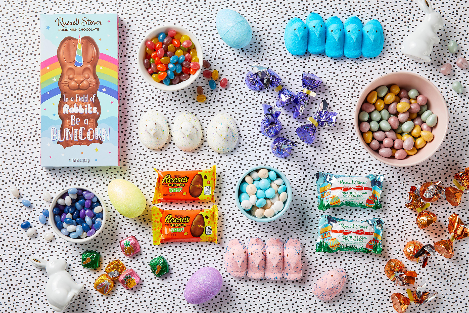 Assortment of Easter Candy and Chocolates