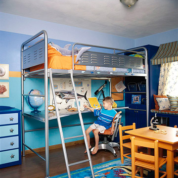Bunkbeds with child