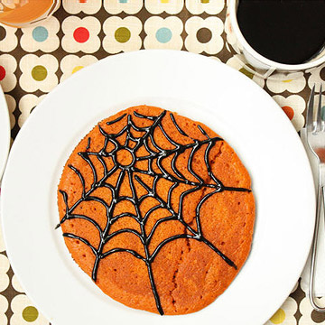 Spiderweb Pumpkin Pancake