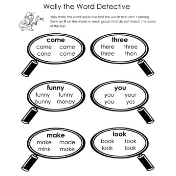 Word Detective Page 1