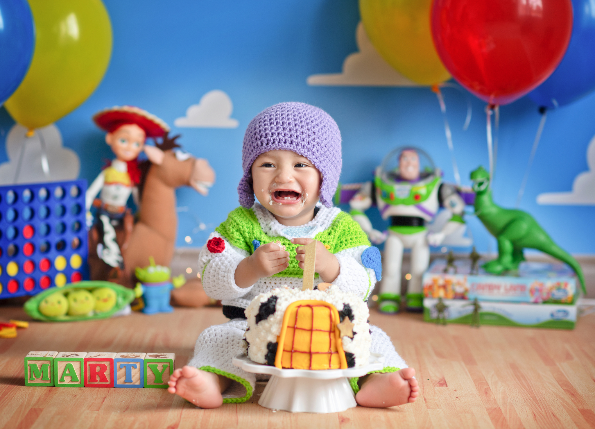 Toy story newborn shoot