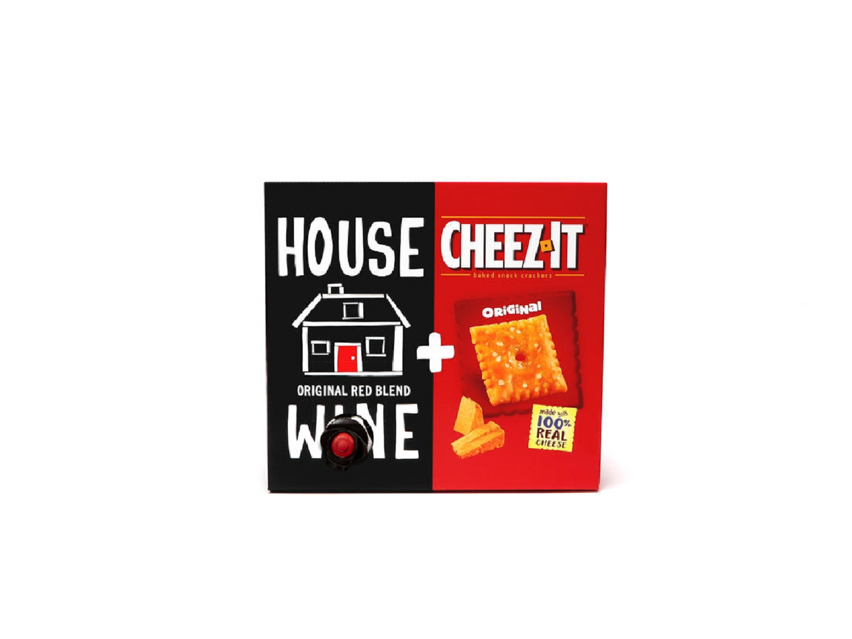 Boxed House Wine and Cheez It Combo