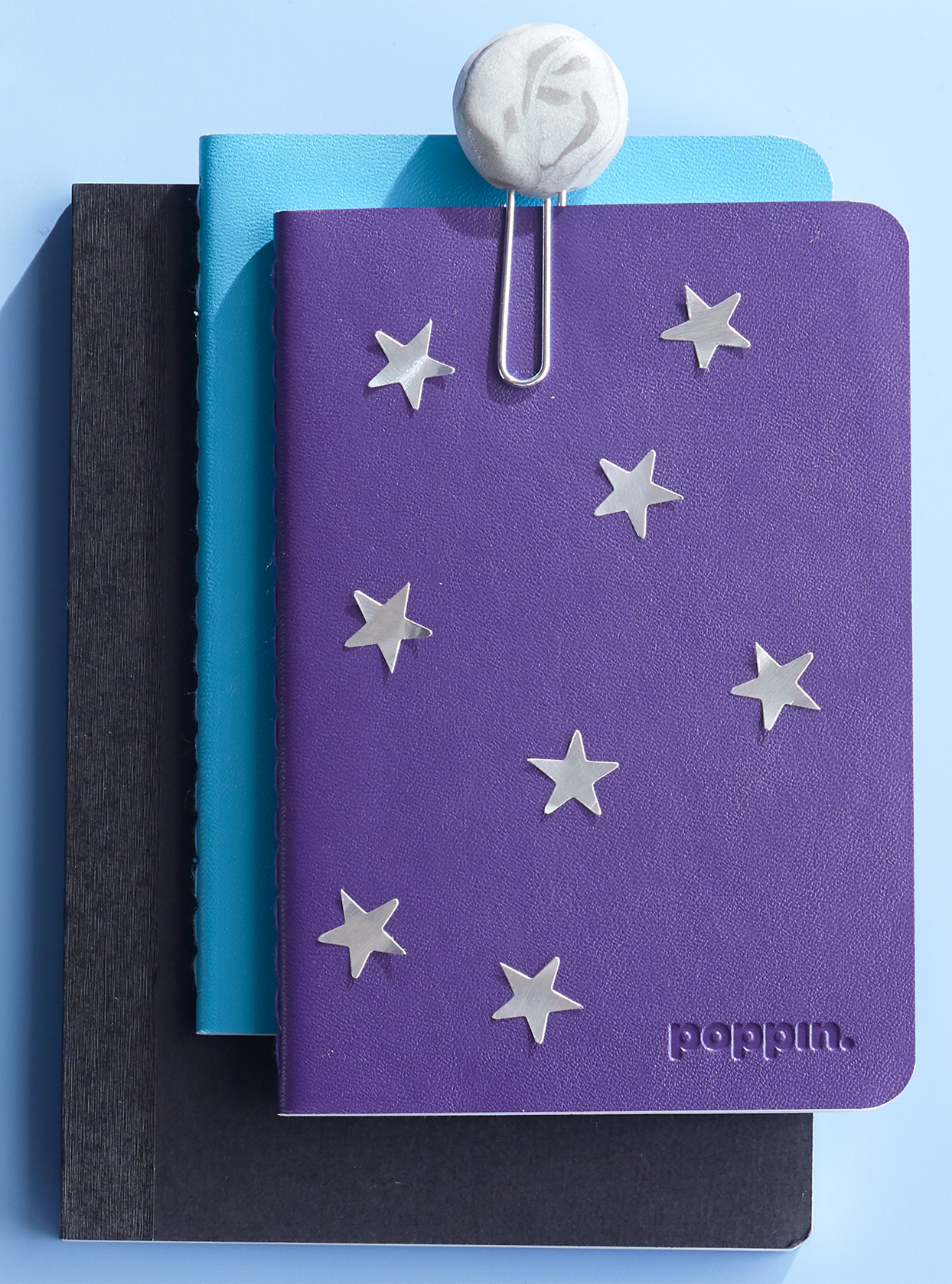 star stickers on notebooks