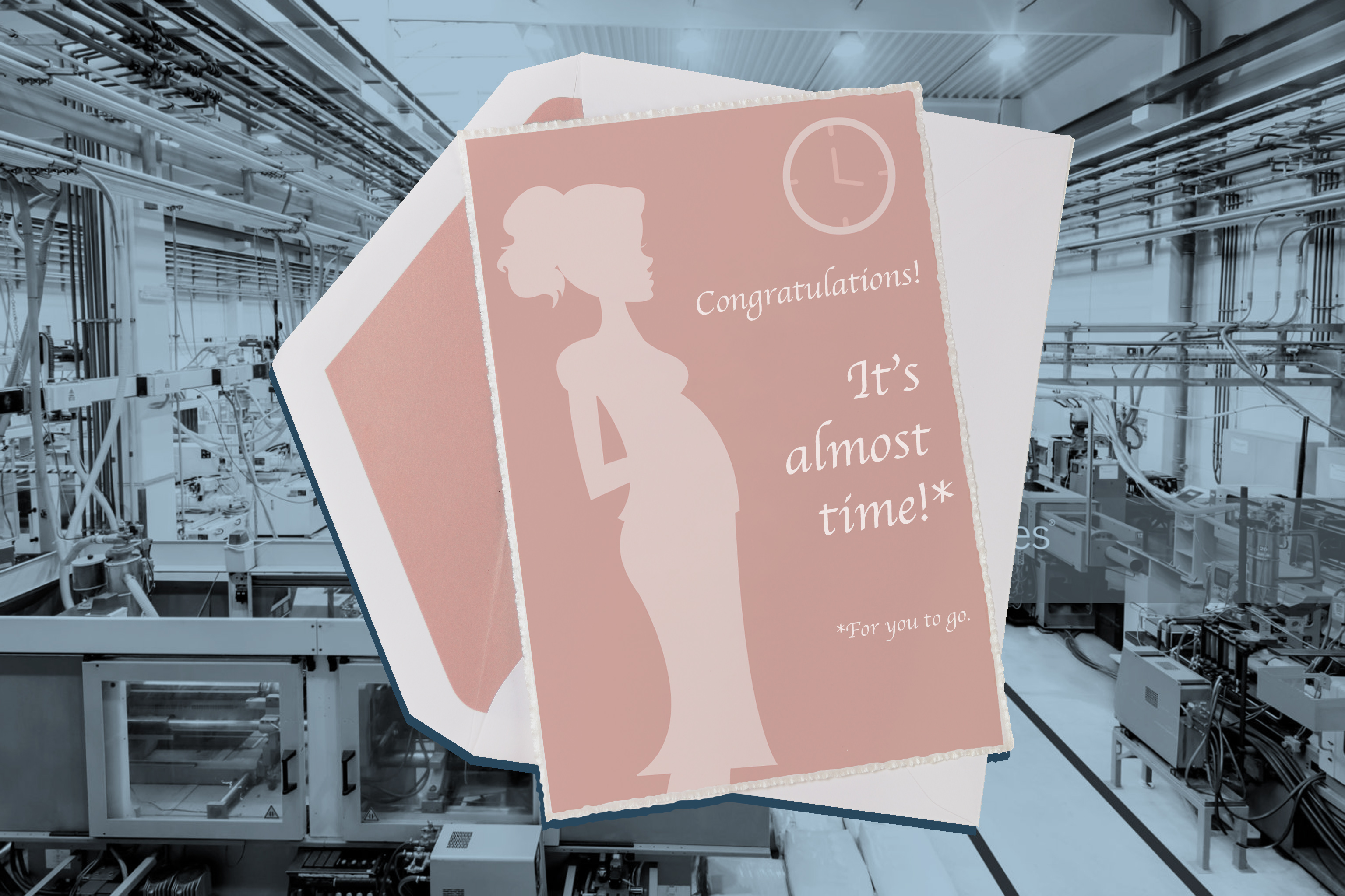 "congratulations ""It's almost time!* *for you to go"" card"