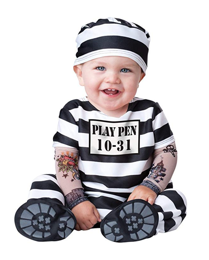 Jail Bird Baby Halloween Costume