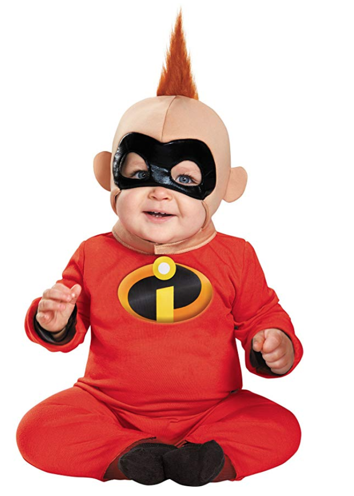 Jack-Jack is undoubtedly the cutest of the Incredibles gang, and this baby Halloween costume is an impressive representation. Mom, dad, and siblings can even dress as other members of the Incredibles.