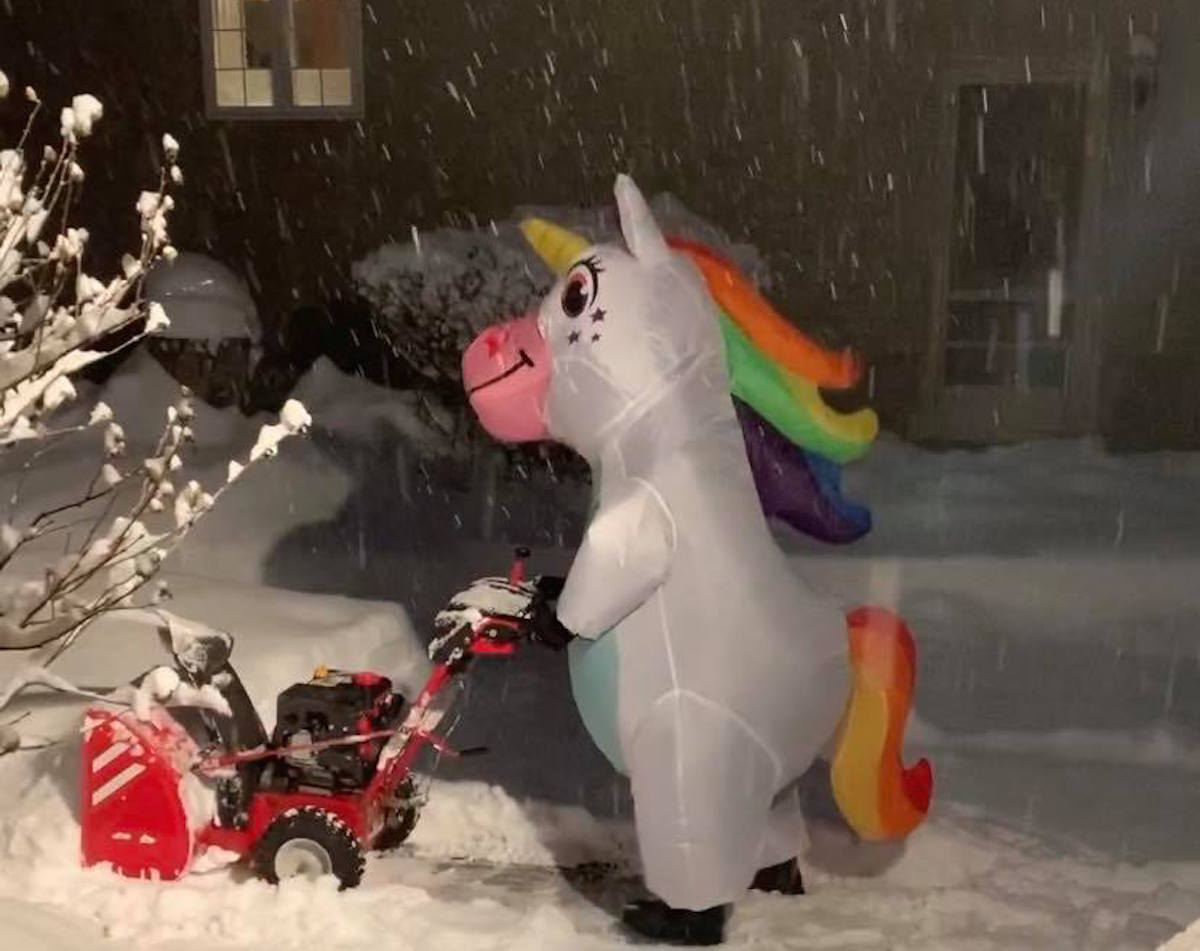 Moms Dressed as 'Snow Unicorns' Are Going Viral & Brightening Up the Darkest Days of Winter