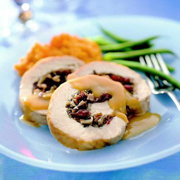 Pork with Cherry Wild Rice Stuffing