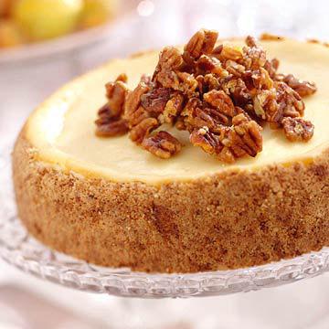 Praline-Crusted Cheesecake