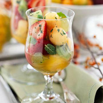 Fresh Fruit Salad with Honey-Rum Dressing