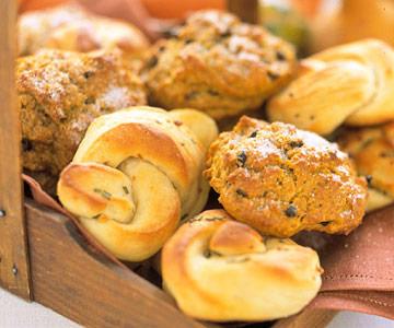 Pumpkin-Currant Scones and Best Potato Rolls