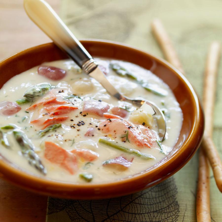Great Lakes Salmon Chowder recipe